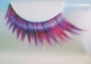 Eulenspiegel Wimpern, pink-lila #000304