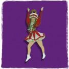 """Karnevalsorden / Kinderorden """"Tanzmariechen"""", diverse Vereinsfarben, mit 2 ösen"""