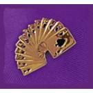 "Pin ""Spielkarten"", vergoldet"